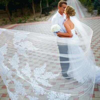 Prachtige Bruidssluier 3 meter lang.