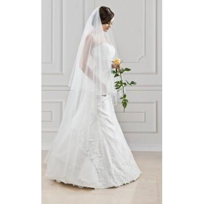 Lange bruid sluier.