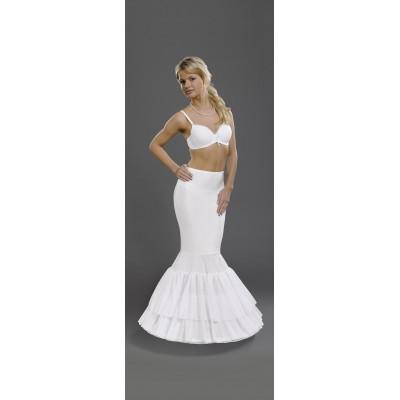Hoepelrok voor een fishtail of Godet jurk .