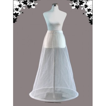 Transparante hoepelrok voor trouwjurk.