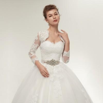 Prachtige trouwjurk met bolero jasje. Maat 44,46